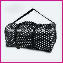 Polka Dot Black White DUFFLE Bag TOTE Diaper Carry Gym Sports HOT