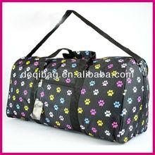 PAW Print DUFFLE Bag TOTE Luggage GYM Travel Pet Dog Lover Multi