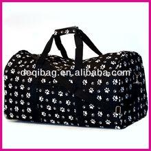 PAW Print Bag TOTE Carryon Luggage GYM Travel Pet Dog Lover