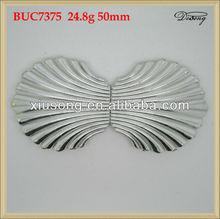 BUC7375 scallops shape silver 50mm plastic buckle