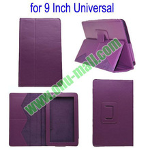 Cheap Universal Leather Case 9 7 Inch Tablet PC With Stand (Purple)