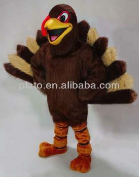 adorable turkey mascot costume/ hot sale plush turkey cartoon character costume