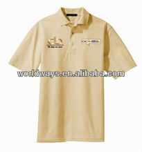 100 cotton bulk t-shirt polo type, customizable work uniform