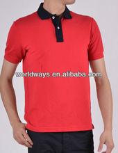 Bulk plain 220g color red cotton / spandex men's t-shirt
