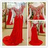 OC-1942 Stunning off the shoulder beaded bodice flowing chiffon pakistani designer dresses 2013 dress