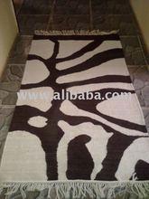 Brown and creme rug