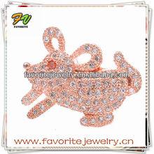 CZ micro pave brass animals jewelry pendants charms