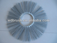 Flat Round Steel Wire Sweeper Brush WD400-76-W