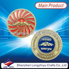 Bronze metal custom coin enamel replica novelty coins medal for commemorative souvenir gift