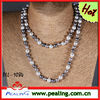 China jewelry wholesale pearl sweater chain on colorful pearl