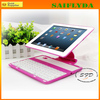 New arrival best selling hot pink bluetooth keyboard leather case for ipad
