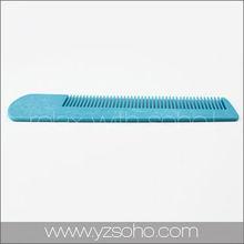 Flexible plastic hair comb for thin hair