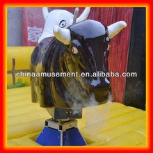 High performance Eyes glowing nose smoking rodeo bull
