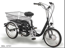 250W Compact Practical Electric tricycle for adult
