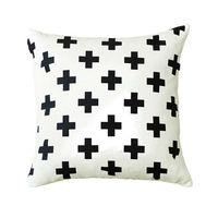 Black Swiss Cross Throw Cushion pillow