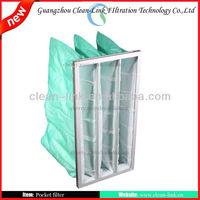 Hot sale Synthetic fiberglass filter media bag Air Filter,air pocket filter