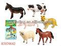 interesante 5 pulgadas de goma suave de animales de granja conjunto juguetes
