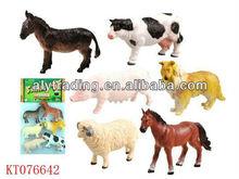 Interesting 5 Inch Soft Rubber Farm Animal Set Toys