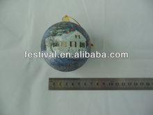 2014 Cheapest printing christmas ball,plastic christmas ball business chrtmas gt