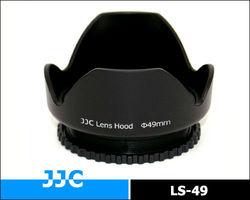 JJC 49mm Universal Flower Sharp Screw-in Lens Hood LS-49 for standard zoom lens for Canon, Nikon,Sony and other DSLR Cameras