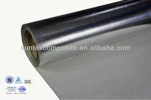 18oz 1.5mm aluminum foil coated thermal insulation fiberglass heat cladding for pipe