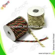 colourful customized polyester drawstring cord for garment