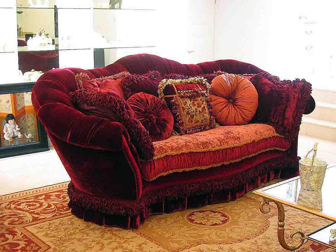 Provasi Luxurious Burgundy Sofa Buy SofaSofa