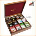 promoção de natal de madeira caixa de chá saco para venda