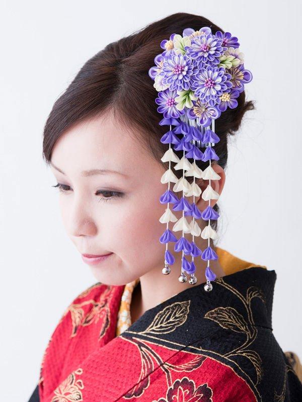 Flor Kanzashi Japon 233 S Tsumami Kanzashi 8151 En Caja