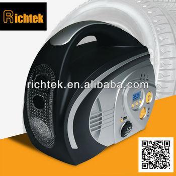 Wholesaler car tire air compress/Rechargeable Battery operated car tire air compre/Portable car tire air compressor(RCP-B210)