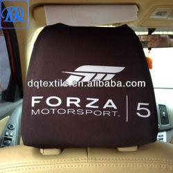 Size Adjustable Custom logo printing Adervertising car seat headrest cover