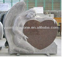angel heart headstone monument tombstone