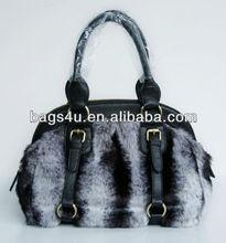 HOT Selling Shopping Vintage Women Bag 2013 Factory Directly Horse Hair Fake Rabbit fur handbags fashion 2012