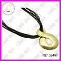 cavo di organza collane collana cordone di seta con chiusura in pelle marrone collana cavo