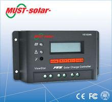 controlador de carga solar LCD display meter 10A/lithium battery solar charge controller