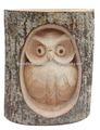 Búho de madera en registro