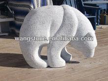 Polar bear statue marble stone animal sculpture