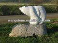 de mármol blanco del oso polar de la decoración