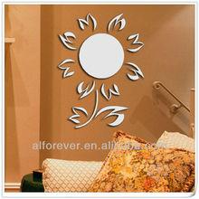mirror sticker sunflower for home decor