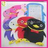 2013 New Design penguin Cute Silicone Case For Ipad Mini