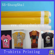 screen printing t-shirt; 100% polyester monofilament