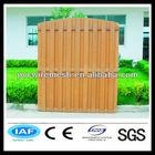 Wood flexible garden fence