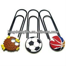 ball shape pvc book clip & paper clip & memo clip