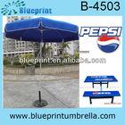 Advertising pepsi beach umbrella for promotion