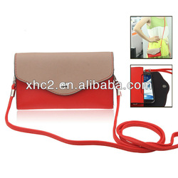 Wallet Style Leather Case Pocket Sleeve Bag with Credit Card Slots for iPhone 5 / HTC One
