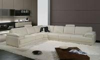 2013 Latest Design, Modern Genuine Top Grain Leather L Shaped Sofa Set jati A097-17