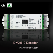 3 channel/4 channel/5 channel DMX Decoder,can set DMX address freely