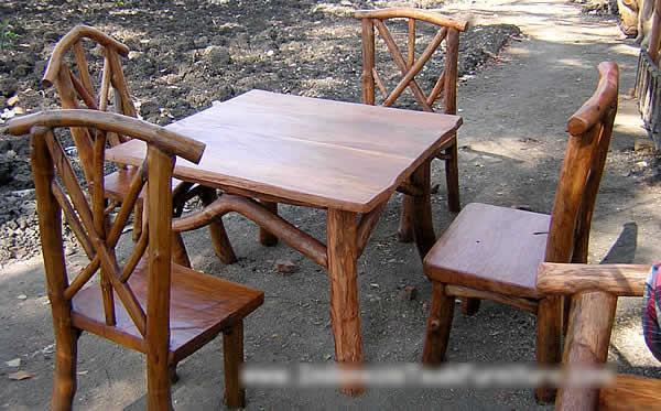 Teak Wood Log Furniture Set Photo, Detailed about Teak Wood Log