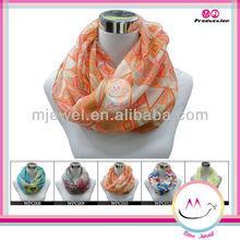 Bohemian geometric scarf silk