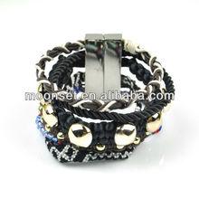 2013 Unisex Cool Woven Magnetic Brazil Bracelet